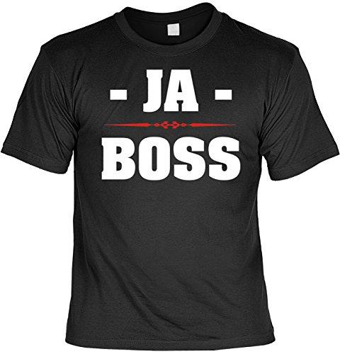 Spaß/Fun-Shirt Rubrik lustige Sprüche-Shirt: JA - Boss - witziges Geschenk Schwarz