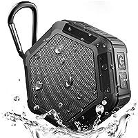 Altavoz Bluetooth, reproductor de audio portátil inalámbrico al aire libre Hexagonal impermeable (Color : NEGRO)