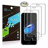 [3-Pack] iPhone 8/7/6S/6Protector de pantalla, didisky templado cristal Protector de pantalla [EASY-INSTALL] sin burbujas [sensible al tacto] Ultra Clear para iPhone 8/7/6S/6