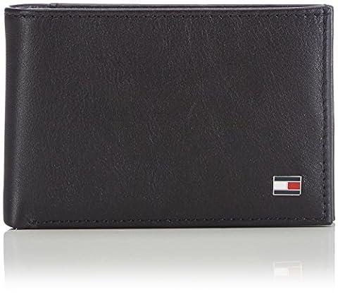 Tommy Hilfiger ETON MINI CC FLAP & COIN POCKET AM0AM00671 Herren Geldbörsen 11x7x2 cm (B x H x T), Schwarz (BLACK