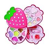 leegoal Princesse Cosmétiques Maquillage Kits, Sécurité Non-Toxique réel Kit cosmétique avec Lip Gloss Vernis à Ongles & More, idéal pour Les Petites Filles Cadeau d'anniversaire de la Princesse