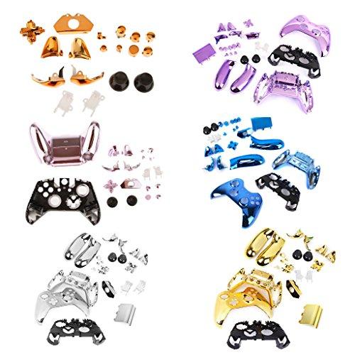 kokiya Metallüberzogener Voller Gehäuse Shell Case Kit Teile Für Xbox One Controller 6 Farben - Blau