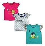 #10: FS Mini Klub Baby Girls' Regular Fit Tees - Pack of 3 (88EGTTS0089 FUSCHIA12-18M-$P, Multi-Coloured, 6-12 Months)