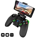 #6: GameSir G3S Advanced Edition 3 in 1 Gamepad/Controller with Bluetooth/ 2.4Ghz Wireless and Wired Connection for PC, PS3, Android and iOS - ICADE games (Green)