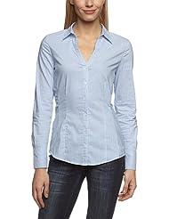 More & More Damen Slim Fit Bluse 1/1 Arm normal