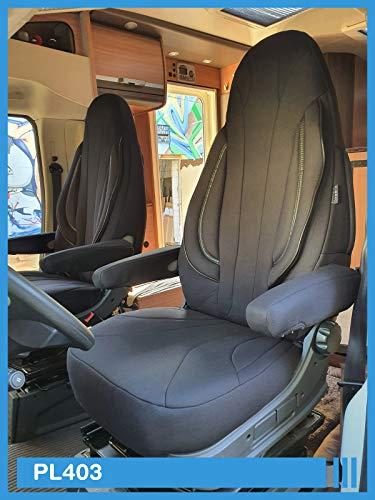 Maß Sitzbezüge kompatibel mit FIAT Ducato 250 Fahrer & Beifahrer ab BJ 2006 Farbnummer: PL403