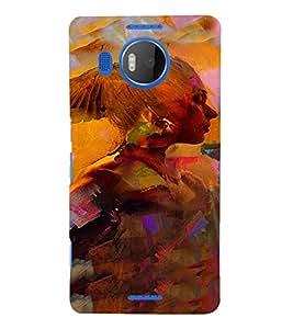 PrintVisa Vintage Art Girl 3D Hard Polycarbonate Designer Back Case Cover for Nokia Lumia 950 XL