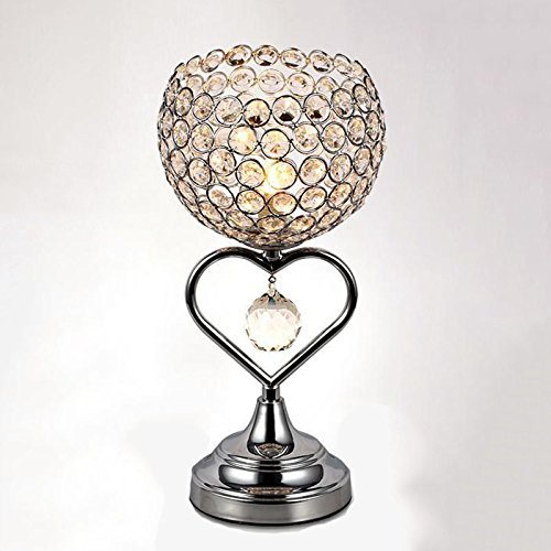 Palast Klassische Kristall Tischlampe Trophäe LED Schreibtisch Lampe Romantische Elegante Kristall Nachttisch Lampe E27 Glühbirne, Hoch 28cm - 28 Cm Hoch Tischlampe