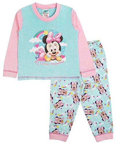Baby Mädchen Schlafanzug Kids Kleinkind Disney Minnie Mouse/ME TO YOU Tatty Teddy Pyjama Set-Größe UK 6bis 24Monate, Grün, LB6447 (Maus Pj Minnie)