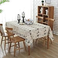 TAO Couverture de table antipoussière de linge de coton de nappe d'impression rectangulaire rectangulaire pour la maison gris de salle à manger (taille : 140x200cm)