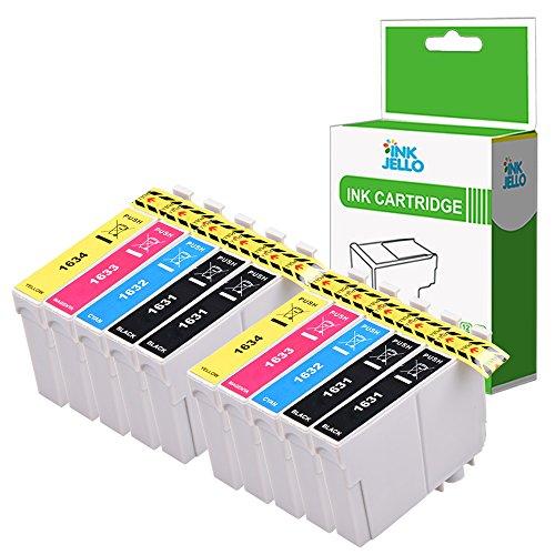 InkJello Compatibile Inchiostro Cartuccia Sostituzione Per Epson WorkForce WF-2010W WF-2510WF WF-2520NF WF-2530WF WF-2540WF WF-2630WF WF-2650DWF WF-2660DWF WF-2750DWF 16XL (B/C/M/Y, 10-Pack)