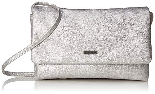1 Silber-handtasche (Tamaris Damen Louise Clutch, Silber (Silver), 1x12x23 cm)
