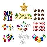 HEVÜY 74Pcs Acrylkugeln DIY Weihnachtskugeln Deko Transparent für Dekorationen, Kleines Dessert,...