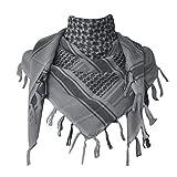 JONKUU® Halstücher PLO Schal°110x110 cm°Pali Palästinenser Arafat Tuch°100% Baumwolle - Viele Farben (Schwarz/Weiss, Einheitsgröße)