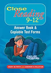 Close Reading 9-12 Answer Book & Copiable Test Forms: Answer Book and Copiable Test Forms