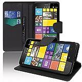 Custodia cover custodia supporto Video Libro Portafoglio pelle PU effetto tessuto per Nokia Lumia 1320