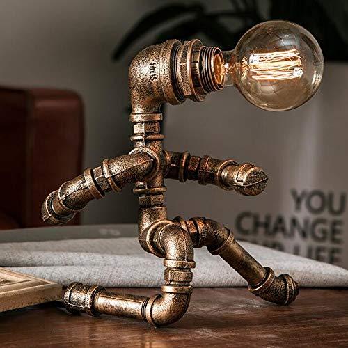 Lxc Amerikanischen Retro Kupfer Roboter Modellierung Schreibtischlampe Wasserleitung Persönlichkeit Rustikale Kreative Schlafzimmer Industrielle Antike Nachttischlampe Erstellen Sie Ihren eigenen priv - Kupfer Rustikal Kronleuchter