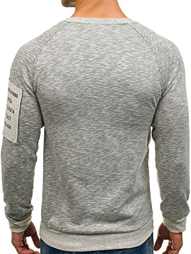 BOLF Herren Pullover Sweatshirt Langarmshirt Sport MIX Grau_1723