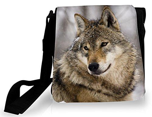 FS - Sacoche Loup dans la neige (potrait)