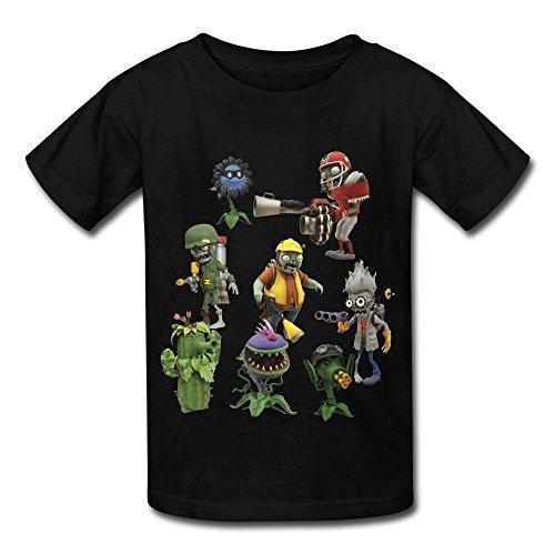 lants Vs Zombies Garden Warfare Round Collar T Shirt (Zombie T Shirt Ideen)