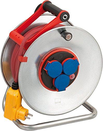 Brennenstuhl Garant S Bretec FI IP44 Kabeltrommel (40m - Stahlblech, ständiger Einsatz im Außenbereich, Made In Germany) silber