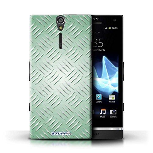 Kobalt® Imprimé Etui / Coque pour Sony Xperia S/LT26i / Argent conception / Série Motif en Métal en Relief Vert