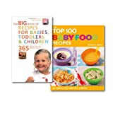 Baby Recipe Books Collection Set (Easy and Healthy Dishes) (Big Book of Recipes for Babies, Toddlers & Children, 365 Quick, Easy and Healthy Dishes: From First Foods to Starting School & The Top 100 Baby Food Recipes)
