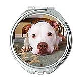Yanteng Spiegel, Compact Spiegel, Hund Gesicht Konzentration Cute Canine Adorable, Taschenspiegel, Tragbare Spiegel
