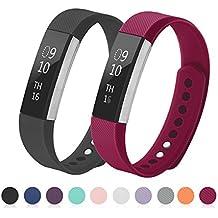Kutop Fitbit Alta HR Correa, TPU Soft Silicona Sports Reemplazo de Banda de Gel Sílice Banda de Reloj Ajustable para Fitbit Alta HR