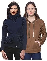 Purys Solid Jacket & String Hoodie Combo