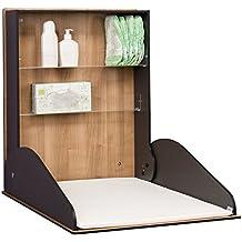 kemmlit Delicias cambiador de Plegable como pared wickel mesa, aspecto de madera, hpl, incluye cambiador