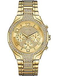 Guess Damen-Armbanduhr Analog Quarz Edelstahl W0628L2