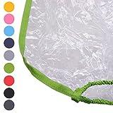 BAMBINIWELT Regenschutz, Regenhaube für Kinderfahrradsitze, Wetterschutz für Fahrrad-Kindersitze (grün)