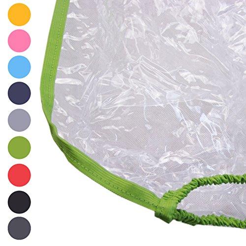 Preisvergleich Produktbild BAMBINIWELT Regenschutz, Regenhaube für Kinderfahrradsitze, Wetterschutz für Fahrrad-Kindersitze (grün)