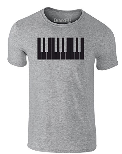 Brand88 - Keys, Erwachsene Gedrucktes T-Shirt Grau/Schwarz