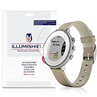 iLLumiShield - Pebble Time Round 14mm Screen Protector Japanese Ultra Clear HD Film with Anti-Bubble and Anti-Fingerprint - High Quality Invisible Shield - Lifetime Warranty - [3-Pack]