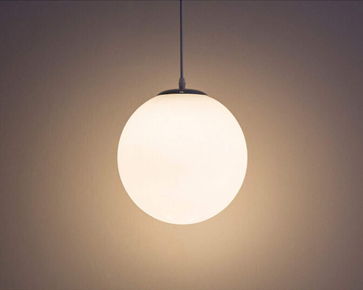 AUA Lampadario con sfera di vetro, Lampada a sospensione, Lampada interna singola per Camera da letto, Soggiorno, Corridoio, Ristorante, Bar