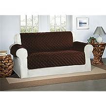 Cubre Chocolate / Marrón para Sofás de 2 Plazas - Protector para Sofás Muebles Acolchado de Lujo