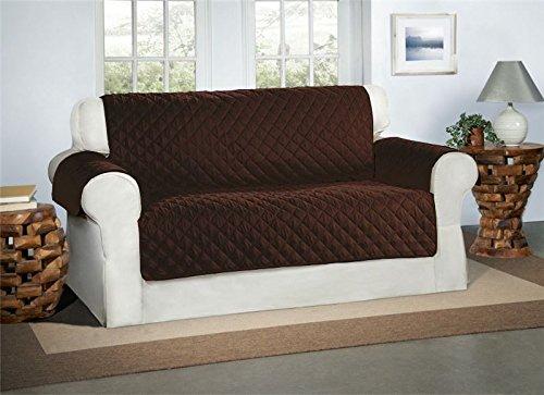 Safari Homeware Schokolade/Brauner 2-Sitzer Sofa Bezug Couchdeckel - Sofa Couch Luxus Gestepptes Möbelschutz