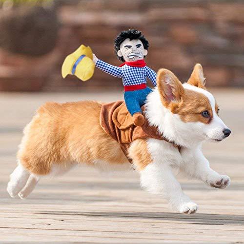 Für Cowboy Hunde Kostüm - Haustier Kostüm Hund Kostüm Haustier Anzug Cowboy Reiter Stil,Haustierge Kleidung haustier katzenkostüm