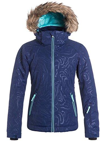 Roxy Snow Jackets - Roxy Jet Ski Girls Snow Jacket - Blue Print