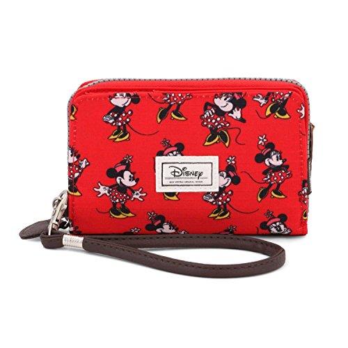 Karactermania 36542 Disney Classic Minnie Cheerful Monederos, 11 cm, Rojo