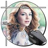 Emma Stone Tapis De Souris Ronde Round Mousepad PC