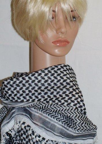 jehaad Pali paño Blanco y Negro PLO–100x 100cm Pali los Palestinos Arafat Toalla 100% algodón