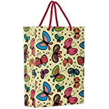 Arrow Paper Bags Butterfly Design Gift Bags for Gifting, Weddings, Birthday,Holiday Presents(28 cm x 20 cm x 7.5 cm, Pack of