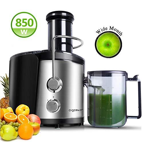 Aigostar MyFrappe Black 30IMX - 850W Licuadora semiprofesional para frutas y verduras con dos velocidades, jarra de 1,25 litros. Cuerpo de acero inoxidable de tipo 304 y libre BPA. Diseño exclusivo