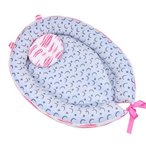 Velvet Lit de bébé, Doux Confortable Nid de couchage Couffin de voyage Système de sommeil pour nouveau-né & bébés-C 68x50cm(27x20inch)