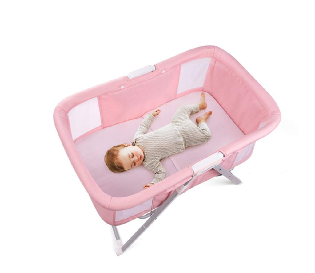Baby cot - Multi-Functional, Lightweight Children's Bed Shaker, Baby Bed Foldable, Portable Travel Cradle Bed, Easy to fold, no Installation, Good Cleaning AYUANCHUN Lightweight design and rugged frame construction for maximum strength and stability. You can see your baby through a breathable, clear viewport, so you can rest as you wish. The portable cradle is the perfect solution for parents looking for a well-designed cradle, and it also provides excellent portability. The cradle can be easily folded and made of durable lightweight frame for easy transport. 5