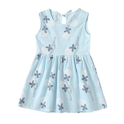 chen Kleid Hochzeit Geburtstag Pailletten Bowknot Floral ärmellose Prinzessin Formelle Kleidung für Baby Kleinkinder Kinder 0-5 Jahre ()