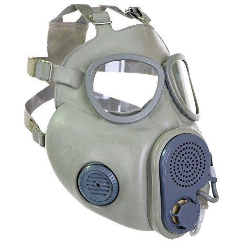 Maske M10 M ABC Schutzmaske ( integrierte Backenfilter + Trinkschlauch !!! ) mit Tasche und Zubehör Gasmaske NVA DDR CCCP CZ Offizier Größe 3